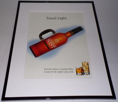 2000 Canadian Mist Whisky Framed 11x14 ORIGINAL Advertisement Travel Light