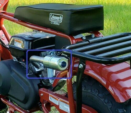 Exhaust With Muffler for: Coleman CT200U 196cc/6.5HP Gas mini bike.