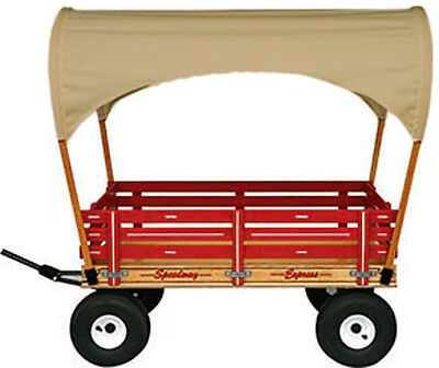 """""""SUN TOP"""" COVERED AMISH WAGON 40"""" w/ 6½ Wide Off Road Tires * 4 Colors * USA"""