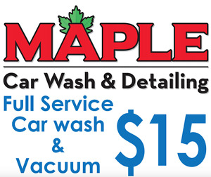 Maple Full Service HAND Car Wash and Vaccum $15