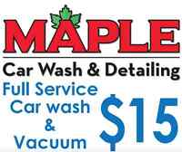 Full Service Car Wash and Vaccum  $15
