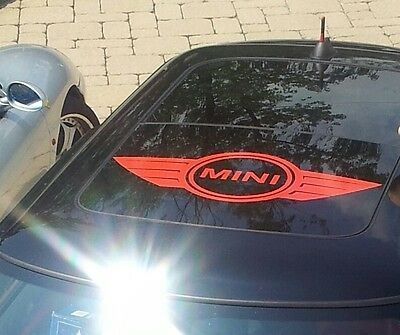 Mini Cooper Logo Roof Decal Graphic Decals Works On Sunroof or painted