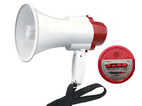 Portable amplified megaphone. Recording & siren ability. 30watt (NEW)