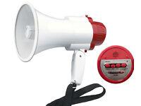 Portable amplified megaphone. Recording & siren ability. 30watt (NEW)