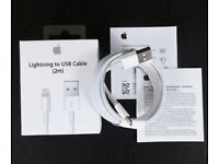 New Original Apple iPhone Lightning USB Charger Cables in box