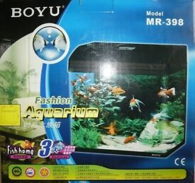 Aquarium fish tank Boyu MR-398 27L,black in original packaging, never used.