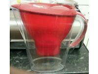 BRITA Marella Water Filter Jug in red