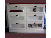 Chest of drawers quality off white designer