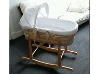Clair de Lune Moses Basket Rocking Stand Crib