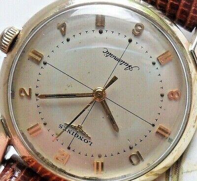 Clean Crosshair Dial Vintage Men's 1957 Longines Swiss 17J 19AS Automatic Watch