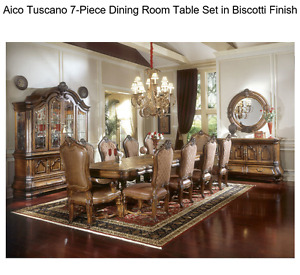 AICO complete dining room set--like new condition