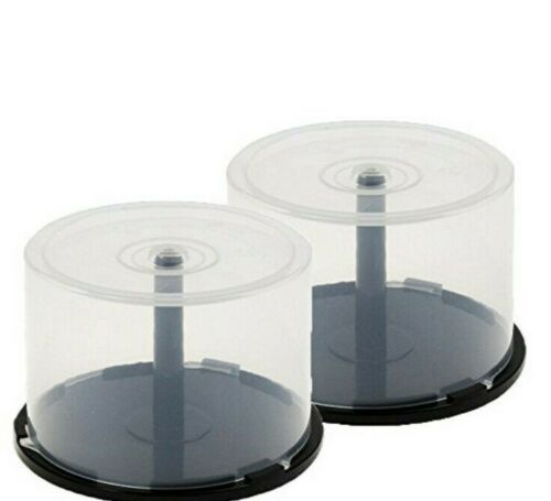 50 Storage Capacity CD DVD Empty Spindle Tub Cake Box Case