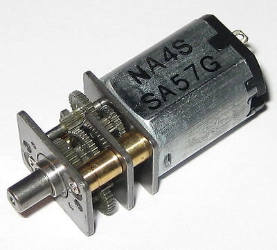 Sanyo Mini Gear Motor - 58 Rpm - 5 V - 12gn-0348-na4s - Miniature Robot Motor