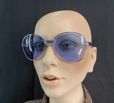 Authentic Gucci Vintage Blue Womens Aviator Sunglasses