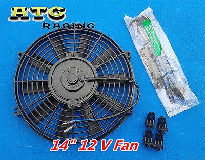 "14"" PUSH/PULL SLIM ELECTRIC RADIATOR ENGINE BAY COOLING FAN 14 INCH UNIVERSAL"