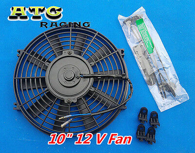 "UNIVERSAL 10"" PUSH/PULL SLIM ELECTRIC RADIATOR ENGINE BAY COOLING FAN 10 INCH"