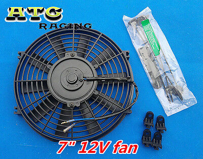 "7"" INCH UNIVERSAL Electric Radiator RACING COOLING Fan & mounting kit ENGINE BAY"