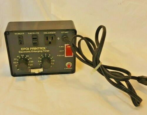 Vintage EPOI Printrol Electronic Enlarging Timer for Darkroom Photo Developing