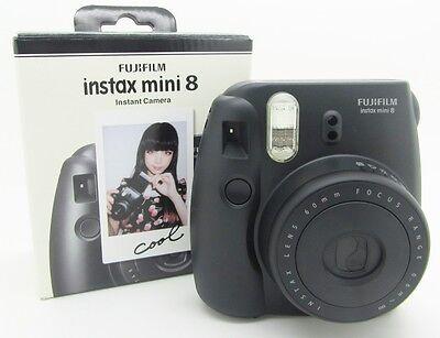 Film Instax Black Mini Fujifilm 8 Instant Camera Fuji Photo New Polaroid