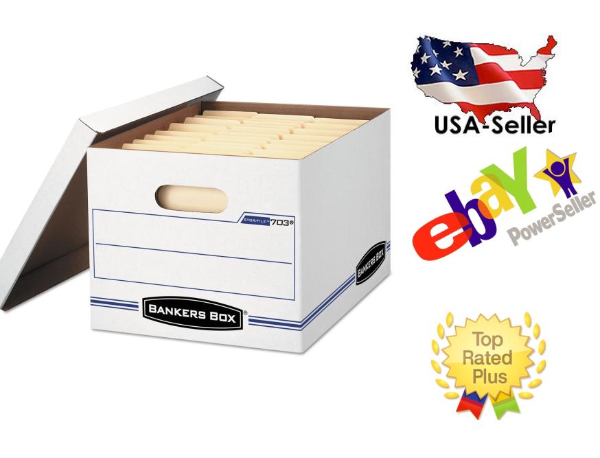 Original-Bankers Box Stor/File Storage Box Letter/Legal Lift