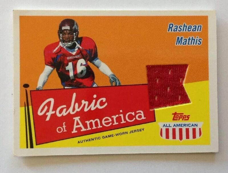 RASHEAN MATHIS 2003 Topps All American Fabric of America Jersey Relic #FA-RM