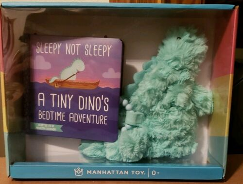 NEW Manhattan Toy Tiny Dino Gift Set Blue Book And Plush Din