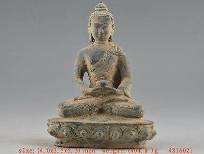 Collectable Old Bronze Handwork Auspicious Buddha Amitabha Statue