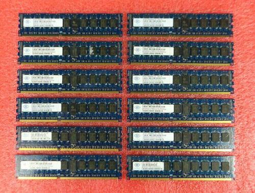 Lot of 12 - Nanya 4GB 2Rx8 PC3-10600R DDR3 Server RAM NT4GC72B8PB0NL-CG
