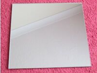 LARGE, MIRROR TILES, SET OF 5, 9 X 9 GOOD CONDITION