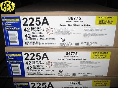 Low Price Lot Of 20 New Square D Qo142l225g Load Center 42ckt 225a Panel Wcover