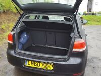 VW Golf 2010 1.6TDI (105ps) Black Hatchback DSG7