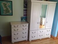 Luxury Wardrobe, chest of drawers and bedside unit for sale.