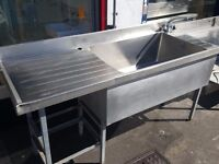 1.83m Deep Bowl Pot Wash Sink With Taps