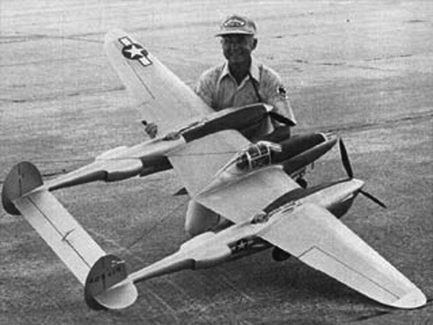 "Lockeed P-38L Lightning 1//6 Scale 94/"" .60 Engines Model Airplane Plans RC"