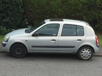 Renault Clio Hatchback 1.2 16V, 5 Door, 2002 Petrol, MOT till April 2017
