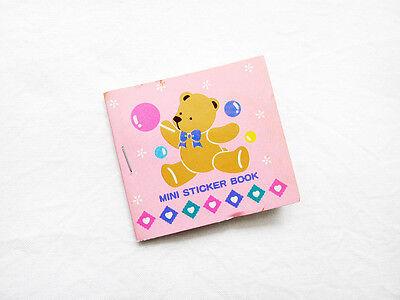 VINTAGE 1986 1989 SANRIO TWEEDLE DEE DEE BEAR Mini Sticker Book COMPLETE KAWAII