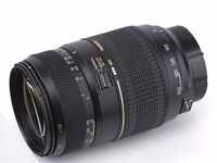 as new tamron 70-300 lens canon eos fit unwanted gift