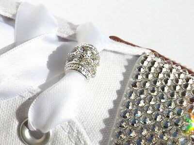 Stunning Double Row Crystal Toggle Shoe Charms For your Blinged Wedding Trainers