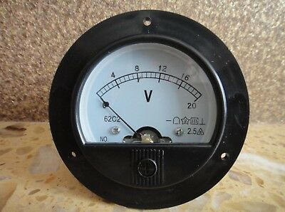 New Round Analog Volt Panel Meter Dc 020v