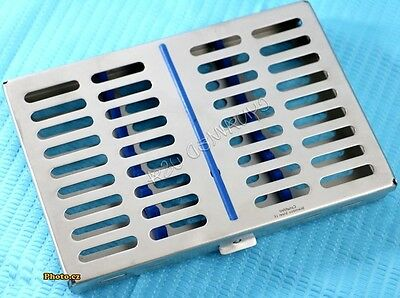 New O.r Dental Autoclave Sterilization Cassette Rack Box Tray For 10 Instruments