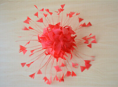 Millinery Hats DIY Craft Headdress Fascinators Turkey Goose Feather Flower Mount