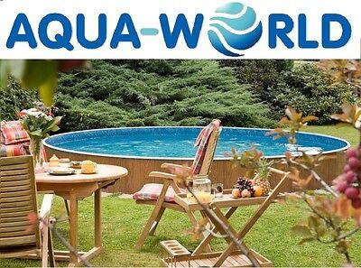 Aqua World Above Ground Steel Swimming Pool, 12ft x 3.5ft Round