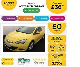 Vauxhall/Opel Astra GTC FROM £36 PER WEEK!