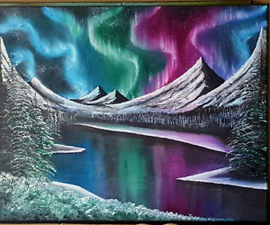 Northrenlights oil painting 16x20 inches