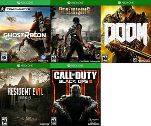 Xbox One Games For Sale or Trade - Ghost Recon, COD, Doom, more