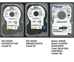 3 Internal Hard Drive (250GB) (250GB) (300GB)