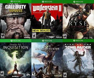 Selling/Trading Xbox One COD WW2, Wolfenstein, Monster, more
