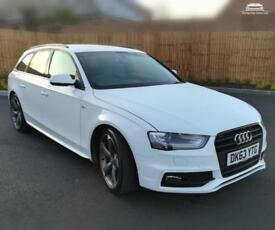 2014 AUDI A4 AVANT TDI S LINE BLACK EDITION 2L DIESEL WHITE MANUAL LOW MILES