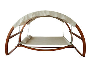 SWING BED WITH CANOPY, GARDEN, PATIO, BACKYARD, POOL, TERRACE