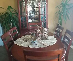 Dining room and curio cabinet